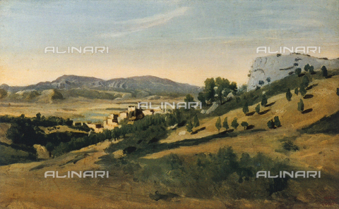 FDC-F-001098-0000 - Olevano romano; painting by Jean Baptiste Camille Corot, French Private Collection