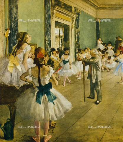 FDC-F-001103-0000 - Lezione di ballo, olio su tela, Edgar Degas (1834-1917), Musée d'Orsay, Parigi