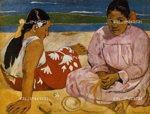 "FDC-F-001107-0000 - Paul Gauguin (1848-1903). Oil on canvas, ""Femmes de Tahiti ou sur la plage"", ""Tahitian Women on the Beach"", 1891, Paris, Musée d'Orsay"