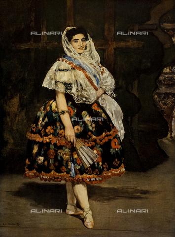 "FDC-F-001111-0000 - ""Lola de Valence, danseuse espagnole"", Lola di Valencia, ballerina spagnola, 1862, olio su tela, Manet Edouard (1832-1883), Musée d'Orsay, Parigi"