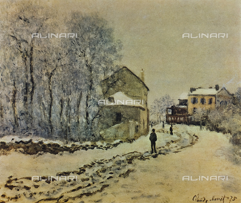 FDC-F-001114-0000 - Snow at Argenteuil, painting, Claude Monet