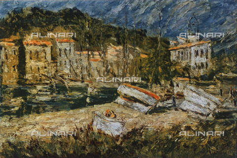 FDC-F-001115-0000 - Les Martigues; painting by Adolphe Joseph Thomas Monticelli, French Private Collection