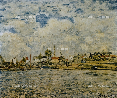 "FDC-F-001122-0000 - At daybreak, oil on canvas, Alfred Sisley (1839-99), Musée des Beaux Arts ""Andre Malraux"", Le Havre"