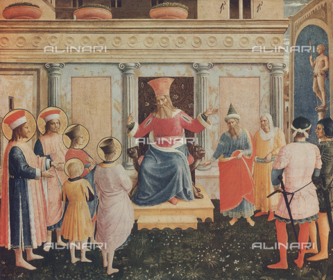 FDC-F-001157-0000 - The Sts. Cosmas and Damian with their brothers in front of the Proconsul Lisia; painting preserved in the Alte Pinakothek, Munich