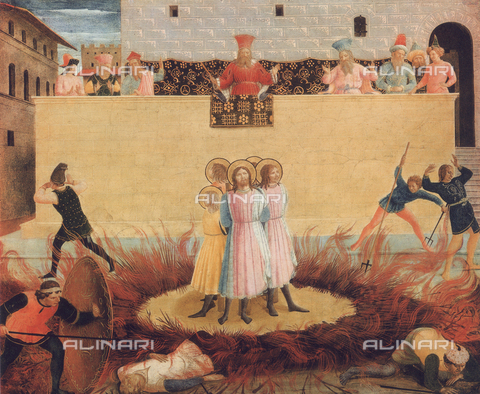 FDC-F-001160-0000 - Martyrdom of the saints Cosma and Damian; painting housed in the National Gallery of Ireland, Dublin
