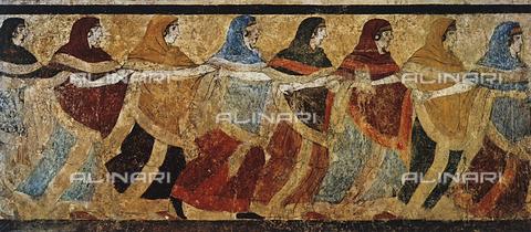 FDC-F-001247-0000 - Coro funebre di donne; pittura ruvestina proveniente da Ruvo e ora conservata al Museo Archeologico Nazionale di Napoli
