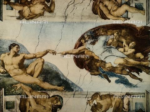 FDC-F-001278-0000 - La Creazione del primo uomo, Cappella Sistina, Musei vaticani, Città del Vaticano