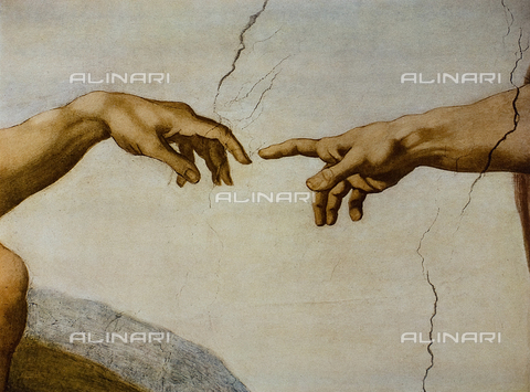 FDC-F-001282-0000 - The Creation of the First Man, Sistine Chapel, Vatican Museums, Vatican City