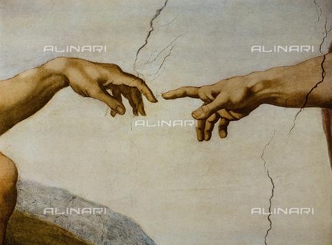 FDC-F-001282-0000 - La Creazione del primo uomo, Cappella Sistina, Musei vaticani, Città del Vaticano