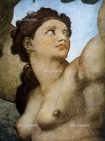 FDC-F-001285-0000 - Eva, dettaglio del Peccato Originale nelle Storie della Genesi, volta della Cappella Sistina, Musei Vaticani, Città del Vaticano