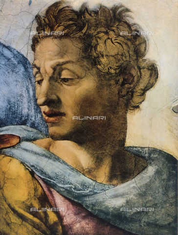 FDC-F-001297-0000 - Prophet Isaiah, detail of the face. Sistine Chapel, Vatican City
