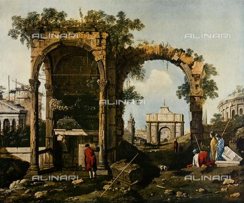 FDC-F-001333-0000 - Paesaggio fantastico con rovine, Palazzo Vecchio, Firenze