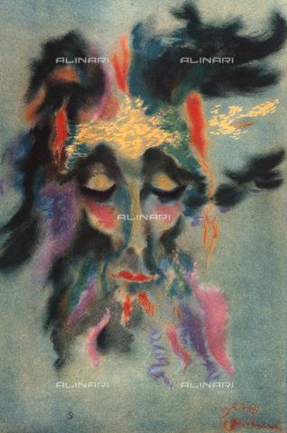 FDC-F-001354-0000 - Testa di profeta, Otto Schneid, Collezione Privata