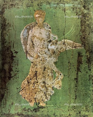 FDC-F-001365-0000 - Leda; dipinto murale proveniente da Pompei e conservato al Museo Archeologico Nazionale, Napoli