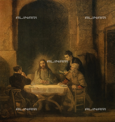 FDC-F-001392-0000 - The Supper at Emmaus, 1648, oil on panel, Rembrandt Harmensz van Rijn (1606-69), The Louvre Museum, Paris