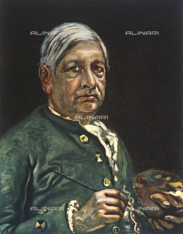 FDC-F-001395-0000 - Self-portrait, with palette, of the artist Giorgio De Chirico; Lombari Collection, Florence