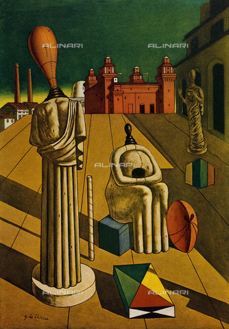FDC-F-001399-0000 - Disquieting Muses, 1925, oil on canvas, Giorgio de Chirico (1888-1978), Private Collection
