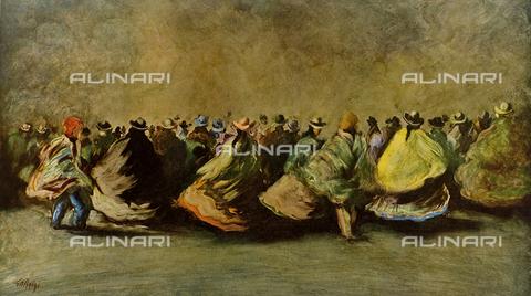 FDC-F-001406-0000 - Peruvian folklore, painting, Sergio Chesini