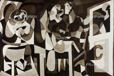 FDC-F-001433-0000 - The atelier of the milliner, oil on canvas, Picasso Pablo (said), Ruiz Blasco Pablo (1881-1973), Musée National d'Art Moderne, Centre George Pompidou, Paris