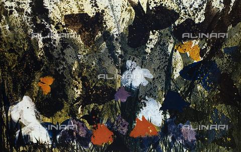FDC-F-001440-0000 - Iris sotto la pioggia, dipinto, Suzuki Takashi, Collezione privata, Milano