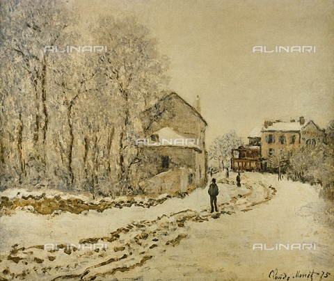 FDC-F-001441-0000 - Snow at Argenteuil, painting, Claude Monet