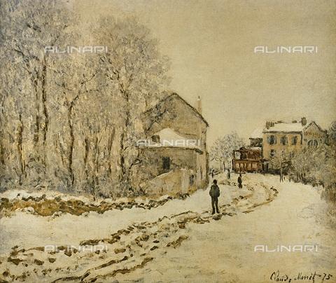FDC-F-001441-0000 - La neve ad Argenteuil, dipinto, Claude Monet