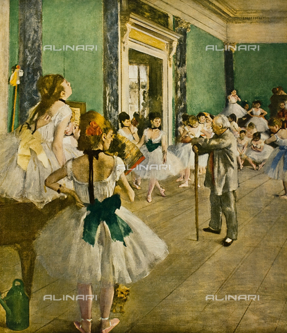 FDC-F-001444-0000 - Dance lesson, oil on canvas, Edgar Degas (1834-1917), Musée d'Orsay, Paris