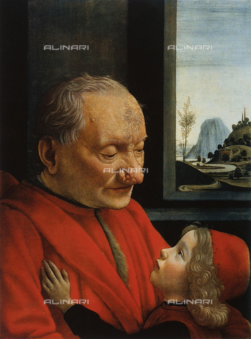 FDC-F-001769-0000 - Portait of an old man with child, Louvre Museum, Paris.