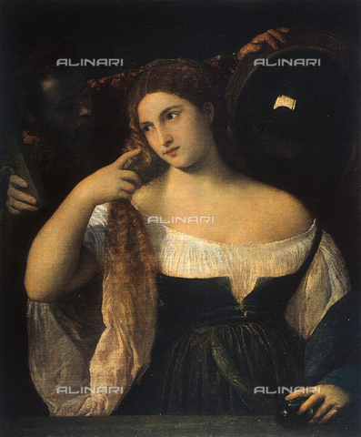 FDC-F-001823-0000 - Woman in front of a mirror, The Louvre, Paris