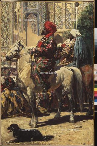 FIA-F-001508-0000 - Cavaliere a Samarcanda, 1872, olio su tela, 88,5x61, Vereshchagin, Vasili Vasilyevich (1842-1904), Galleria d'Arte Regionale, Taganrog - Fine Art Images/Archivi Alinari, Firenze