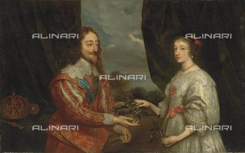 FIA-F-040995-0000 - Double portrait of King Charles I and Queen Enrichetta Maria, oil on canvas, Antoon Van Dyck (1599-1641), Castle and Archiepiscopal Gardens, Kromeriz, Czech Republic - Fine Art Images/Alinari Archives, Firenze