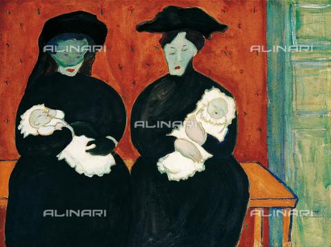 FIA-F-042280-0000 - Gemelle, tempera su cartoncino, Verefkin, Marianne, von (1860-1938), Museo Communale d'Arte Moderna, Ascona - Fine Art Images/Archivi Alinari, Firenze