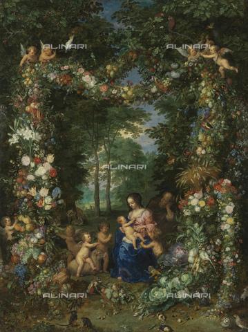 FIA-F-042331-0000 - Sacra Famiglia, olio su tavola, Brueghel Jan il Vecchio (1568-1625), Alte Pinakothek, Monaco - Fine Art Images/Archivi Alinari, Firenze