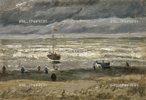 FIA-F-043215-0000 - Sea at Scheveningen (Scheveningen's beach before a storm), oil on canvas, Vincent van Gogh (1853-1890), Van Gogh Museum, Amsterdam. The painting was stolen in 2002 and found again in 2016 in Castellammare di Stabia, in 2017 it returned to its original location - Fine Art Images/Alinari Archives, Firenze
