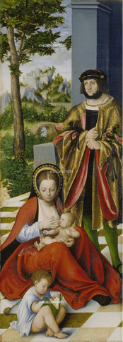 FIA-F-045346-0000 - Triptych of the Holy Family, left panel, oil on the table, Lucas Cranach the Elder (1472 -1553), Städelsches Kunstinstitut, Frankfurt - Fine Art Images/Alinari Archives, Firenze