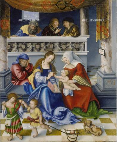 FIA-F-045347-0000 - Triptych of the Holy Family, central panel, oil on the table, Lucas Cranach the Elder (1472 -1553), Städelsches Kunstinstitut, Frankfurt - Fine Art Images/Alinari Archives, Firenze