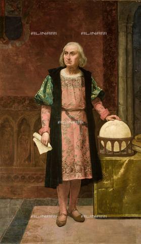 FIA-F-046177-0000 - Ritratto di Cristoforo Colombo, olio su tela, José de la Vega Marrugal (1827-1896), Municipio, Siviglia - Fine Art Images/Archivi Alinari, Firenze