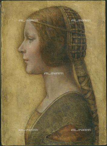 FIA-F-049133-0000 - La Bella Principessa, gessetto, penna e inchiostro su pergamena, Leonardo da Vinci (1452-1519), Collezione Privata - Fine Art Images/Archivi Alinari, Firenze