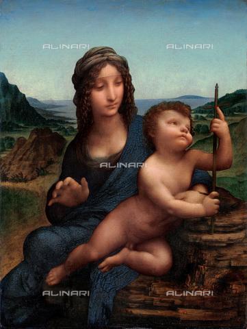 FIA-F-049135-0000 - Madonna dei Fusi, olio su tavola, Leonardo da Vinci (1452-1519), Collezione Privata - Fine Art Images/Archivi Alinari, Firenze