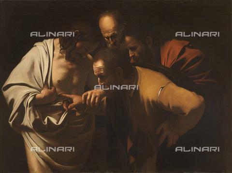 FIA-F-049864-0000 - L'incredulità di San Tommaso, olio su tela, Caravaggio, Michelangelo Merisi, detto il (1571-1610), Bildergalerie, Sanssouci, Potsdam - Fine Art Images/Archivi Alinari, Firenze