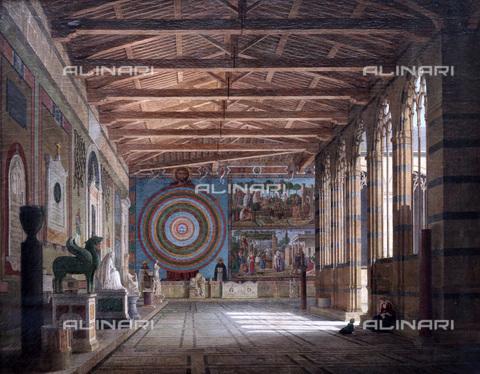 FIA-F-050179-0000 - Il Camposanto a Pisa, olio su tela, Klenze, Leo, von (1784-1864), Neue Pinakothek, Monaco - Fine Art Images/Archivi Alinari, Firenze