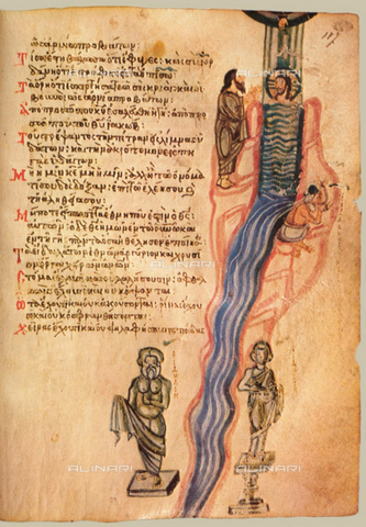 FIA-F-053157-0000 - The Chludov Psalter, ca 850, Gouache on parchment,19,5x15, Byzantine Master, State History Museum, Moscow - Fine Art Images/Alinari Archives, Firenze