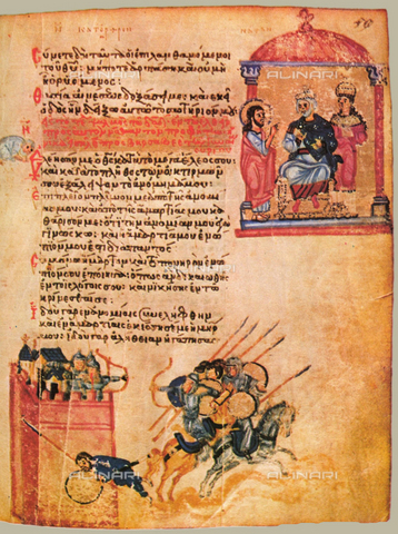 FIA-F-053159-0000 - The Chludov Psalter, ca 850, Gouache on parchment,19,5x15, Byzantine Master, State History Museum, Moscow - Fine Art Images/Alinari Archives, Firenze