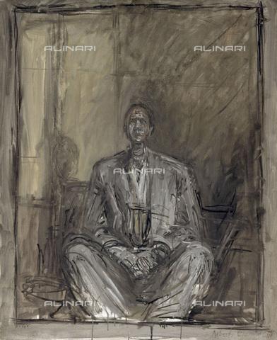 FIA-F-053338-0000 - Ritratto del poeta Jean Genet (1910-1986), olio su tela, Alberto Giacometti (1901-1966), Centre Pompidou - Musée national d'art moderne - Centre de création industrielle, Parigi - Fine Art Images/Archivi Alinari, Firenze