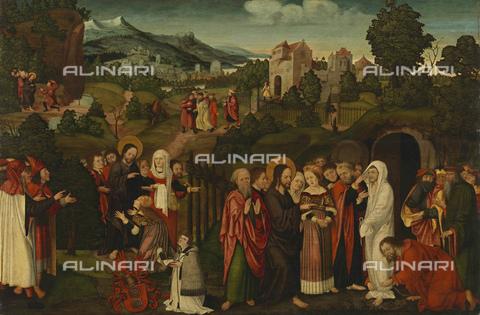 FIA-F-053798-0000 - Resurrezione di Lazzaro, olio su tavola, Maestro della Germania meridionale, Bayerische Staatsgemà¤ldesammlungen, Monaco di Baviera - Fine Art Images/Archivi Alinari, Firenze