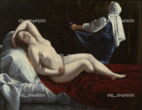 FIA-F-056479-0000 - Danae, olio su rame, Artemisia Gentileschi (1593-1564), Saint Louis Art Museum,  Saint Louis - Fine Art Images/Archivi Alinari, Firenze