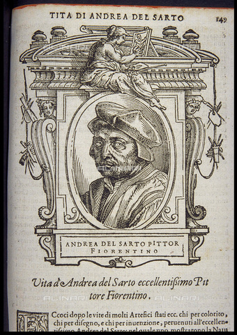 FIA-F-057628-0000 - Andrea del Sarto, engraving from Le Vite of the most excellent painters, sculptors, and architects of Giorgio Vasari (1511-1574), edition of 1568, Private collection - Fine Art Images/Alinari Archives, Firenze