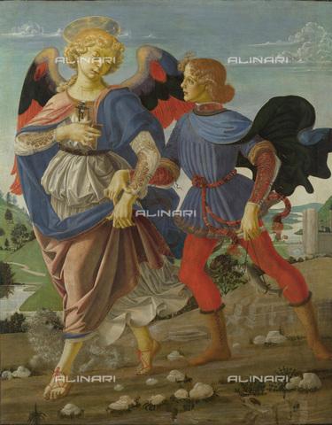 FIA-F-062006-0000 - Tobiolo e l'angelo, 1470-1475, tempera su tavola, Andrea del Verrocchio (1437-1488), National Gallery, Londra - Fine Art Images/Archivi Alinari, Firenze
