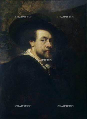 FIN-S-FIUV00-0204 - Autoritratto di Rubens conservato nel Corridoio Vasariano - Per concessione del Ministero per i Beni e le Attività Culturali / Finsiel/Archivi Alinari