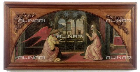 FIN-S-MGE000-0042 - Annunciation, work by Monte di Giovanni, conserved at the Galleria Estense in Modena - Reproduced with the permission of Ministero per i Beni e le Attività Culturali / Finsiel/Alinari Archives